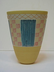 Yellow Vase with Ladders and Copper