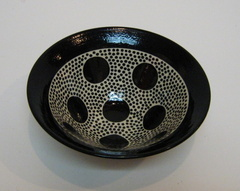 Black and White Polka Dot Bowl