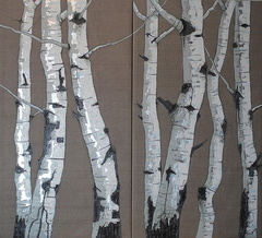 Shy Woods (Diptych)