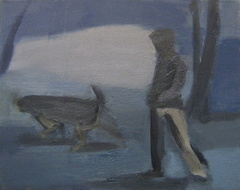 Woman and Dog 1
