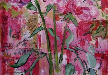 Resurrection Painting, No. 7 - Pink Peonies