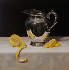 Silver Pitcher and Lemon