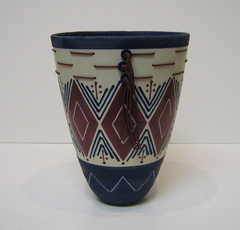 Blue Vase with Triangles