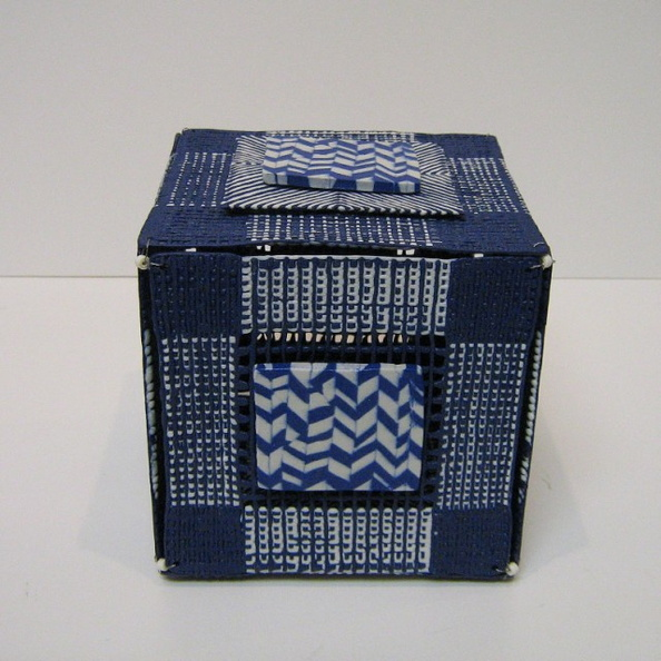 Woven Box with Herringbone (detail)