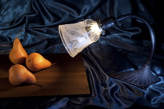 Pears in Lamp Light