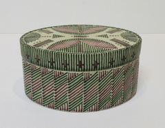 Oval Quill Work Covered Container