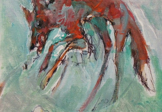 Study - Maned Pouncing Wolf