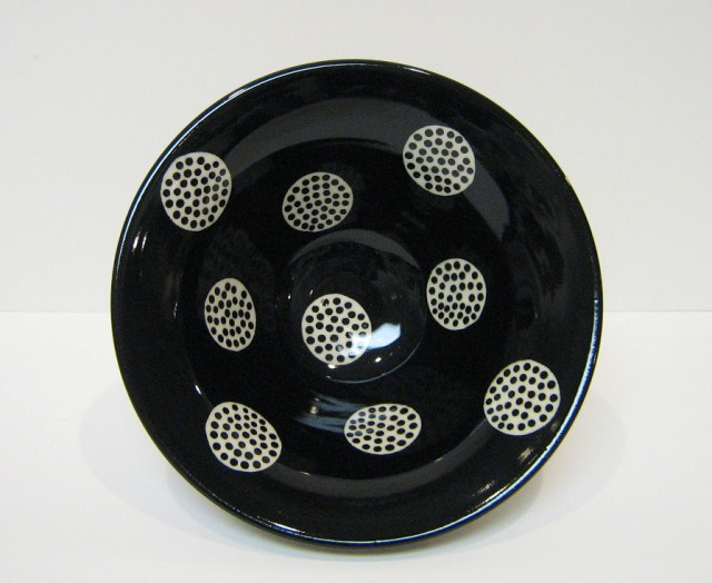 AMC - black bowl white polka dots Large Web view.jpg